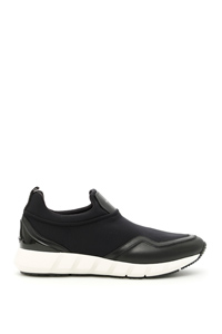 LEATHER AND NYLON COLUMBIA SNEAKERS