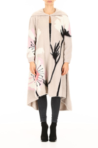 MAXI COAT WITH FLOWERS