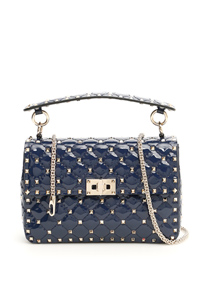 PATENT MEDIUM ROCKSTUD SPIKE BAG