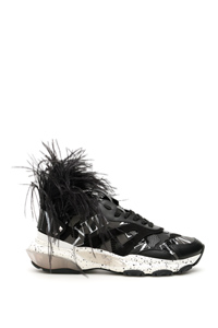 VLTN BOUNCE SNEAKERS WITH FEATHERS