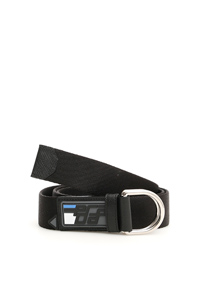 FABRIC BELT WITH RUBBER LOGO