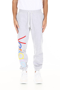 JOGGERS WITH MULTICOLOR VINTAGE LOGO