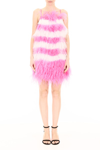 BICOLOR FEATHER DRESS