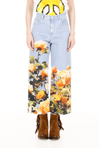 JEANS WITH FLORAL PRINT