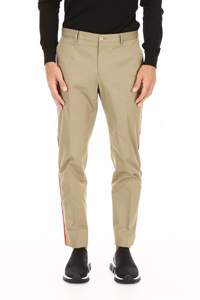 CHINO TROUSERS WITH LOGO PATCH