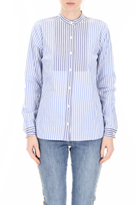 STRIPED SHIRT WITH PLASTRON