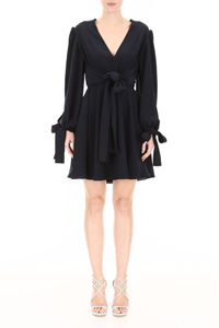 DRESS WITH SELF-TIE BOWS