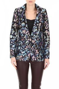 BLAZER WITH MULTICOLOR SEQUINS