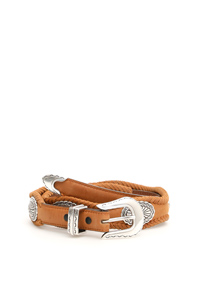 OVAL CONCHO BELT BROWN