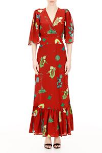 WRAP DRESS RED