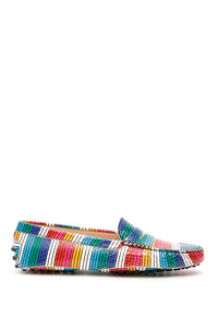 MULTICOLOR STRIPED LOAFERS