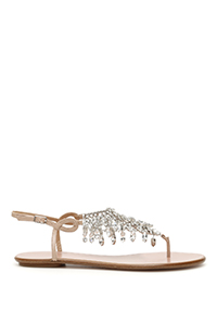 TEMPTATION CRYSTAL FLAT SANDALS