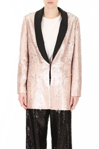 TUXEDO JACKET WITH SEQUINS