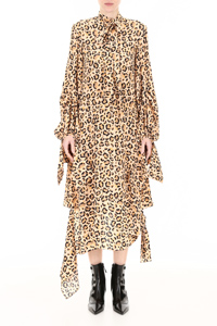 ASYMMETRIC ANIMALIER DRESS