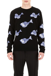 FISH EMBROIDERY PULLOVER