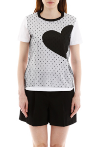 PLUMETIS T-SHIRT WITH HEART