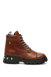 CRYSTAL LACE-UPS BOOTS