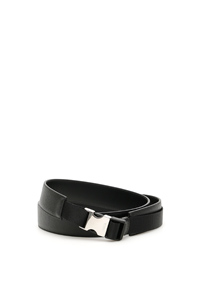 BUCKLED SAFFIANO BELT