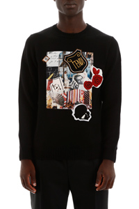 PULLOVER CON PATCH COLLAGE