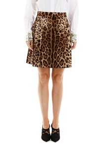 LEOPARD-PRINTED MINI SKIRT