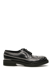 STUDDED DERBY LACE-UPS