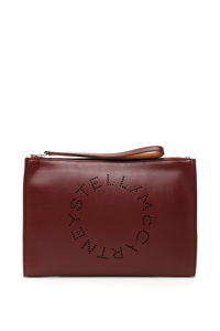 ZIPPED CLUTCH WITH PERFORATED LOGO
