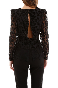 TOP METALLIC LEOPARD DEVORE'