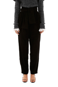 SUEDE ESPIONAGE TROUSERS