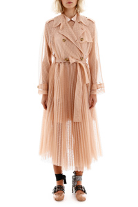 TRENCH LUNGO TULLE PLUMETIS