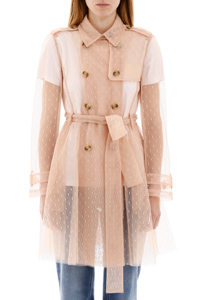 TRENCH TULLE PLUMETIS