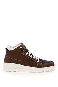 SNEAKERS MID TOP NABUK FF KNIT