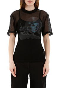 TOP A RETE PANTHER DRAPED
