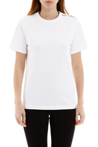 T-SHIRT WITH LOGO ON ONE SHOULDER
