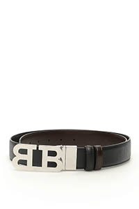 REVERSIBLE MIRROR B BUCKLE BELT