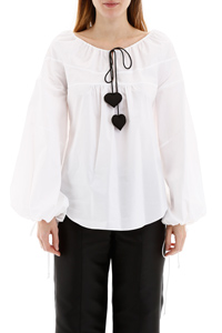 BLOUSE WITH DRAWSTRING