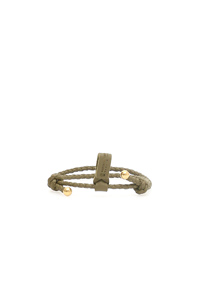 UNISEX INTRECCIATO BRACELET WITH TWO KNOTS