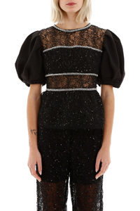 SEQUIN CIRCLE LACE TOP