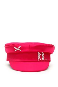 BAKER BOY CRYSTAL SATIN HAT
