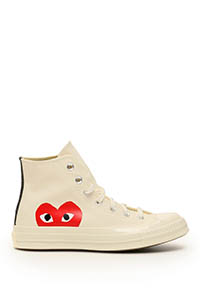 COMME DES GARCONS PLAY CHUCK 70 HI-TOP SNEAKERS