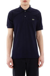 POLO SHIRT WITH EMBROIDERED LOGO PATCH