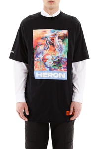 T-SHIRT OVER STAMPA HERON
