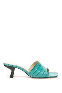 CROCO PRINT LILY MULES