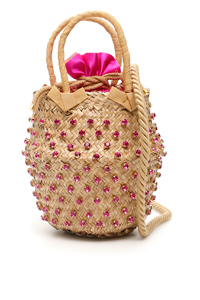 BORSA NINA SMALL BASKET BAG 70350 SATIN