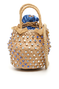 BORSA NINA SMALL BASKET BAG 30050 SATIN
