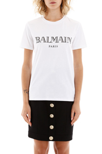 T-SHIRT WITH LOGO BUTTONS