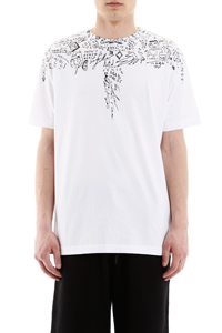 T-SHIRT STAMPA WINGS EFFETTO BOZZETTO