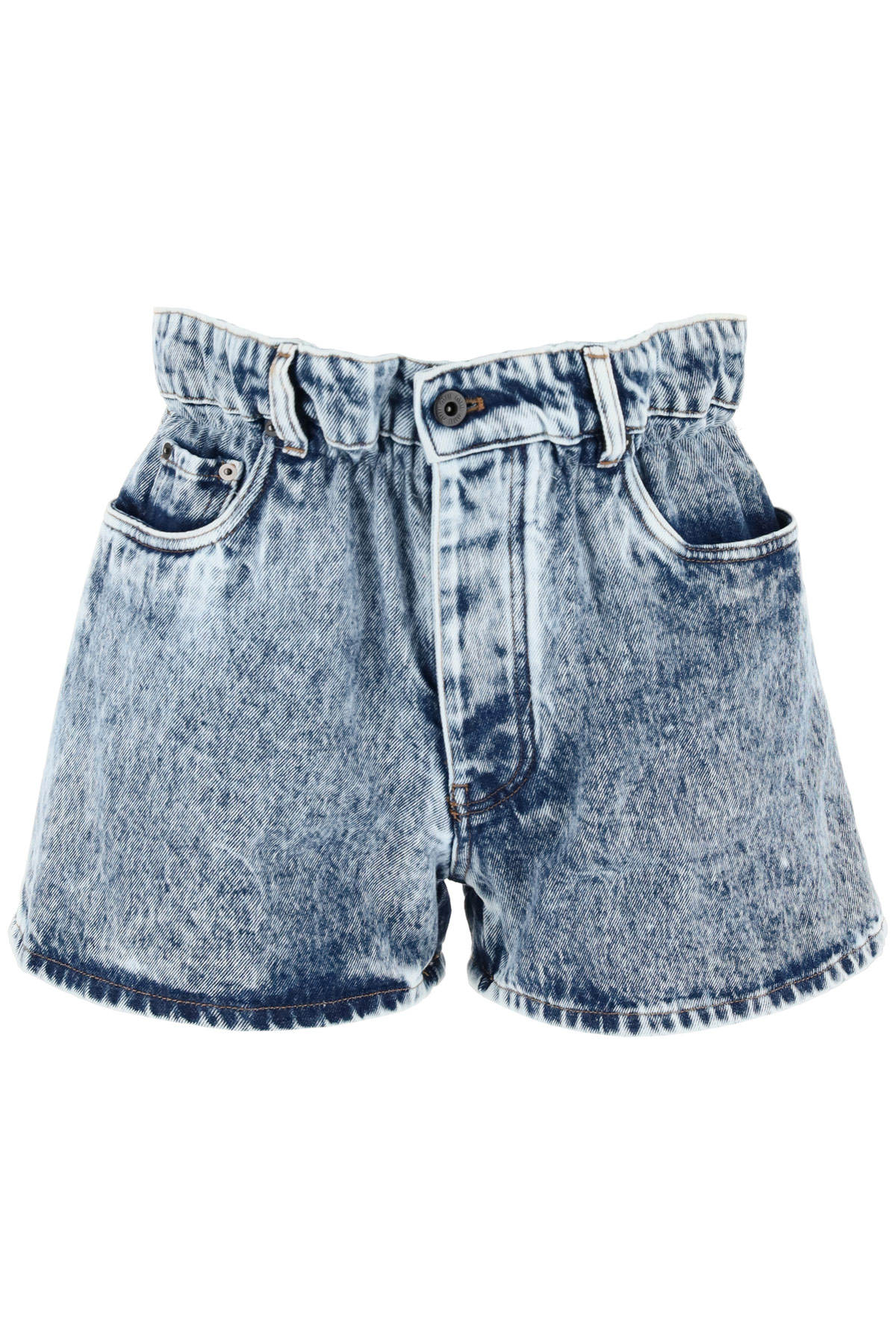 SHORTS DENIM MARMORIZZATO PAPER BAG