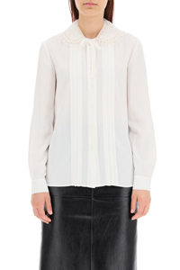 SABLÉ BLOUSE WITH EMBROIDERED COLLAR