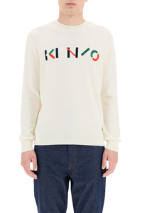 SWEATER WITH MULTICOLOUR LOGO EMBROIDERY