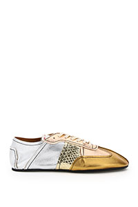 SNEAKERS IN PELLE METALLIZZATA RUNWAY